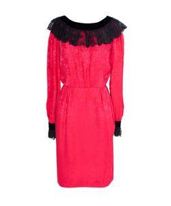 OSCAR DE LA RENTA VINTAGE | Платье С Кружевным Воротником И Манжетами 70-Е Гг.