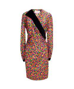 OSCAR DE LA RENTA VINTAGE | Платье С Принтом В Виде Драгоценных Камней 80-Е Гг.