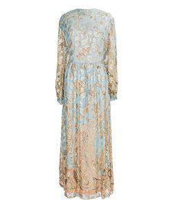 OSCAR DE LA RENTA VINTAGE | Шелковое Платье С Золотым Принтом 70-Е Гг.