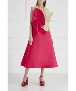 Delpozo   Льняное Платье