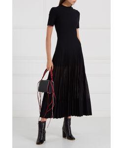 Alexander McQueen | Шерстяное Платье С Плиссировкой