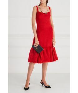 Prada | Платье Из Альпаки И Шелка
