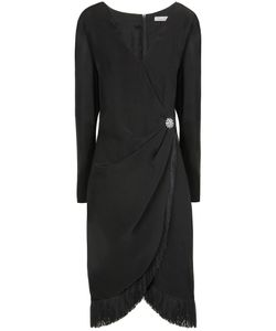 GUY LAROCHE VINTAGE | Платье С Запахом И Бахромой 80-Е