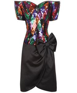 Lillie Rubin | Платье С Вышивкой Пайетками 80-Е Гг.
