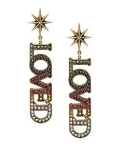 Gucci | Серьги С Кристаллами Loved