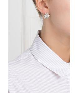 Axenoff Jewellery | Серебряные Серьги С Цаворитами И Бесцветными Топазами Зарина