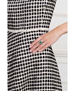 Axenoff Jewellery | Серебряное Кольцо С Зеленым Агатом И Бесцветными Топазами Граф Орлов