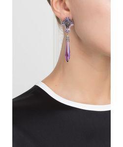 Axenoff Jewellery | Серебряные Серьги С Аметистами И Черной Шпинелью Кокошники