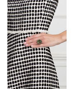 Axenoff Jewellery | Серебряное Кольцо С Празеолитом Цаворитами И Бесцветными Топазами Купава