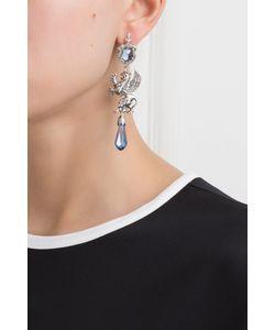Axenoff Jewellery | Серебряные Серьги С Сапфирами И Бесцветными Топазами Гриффоны