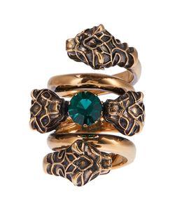 Gucci | Кольцо С Зеленым Кристаллом