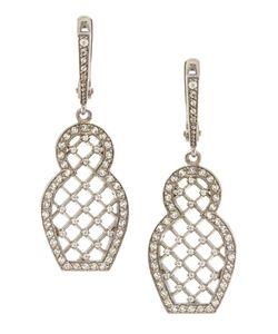 Axenoff Jewellery | Серебряные Серьги Матрешка С Бесцветными Топазами