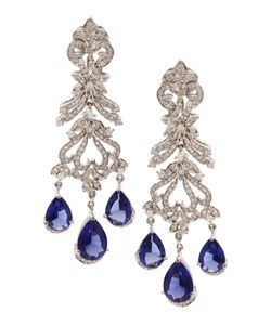 Jewel Mania | Серьги С Цирконами Blue Bouquet
