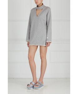 ZDDZ | Однотонное Платье Choker F-Sweatshirt Dress