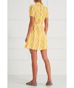Miu Miu | Платье Из Крепа С Принтом