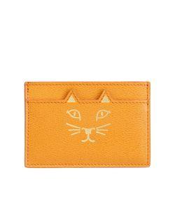 Charlotte Olympia | Кожаная Визитница Feline Card Holder