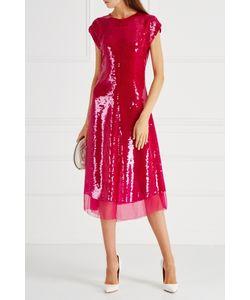 Stella Mccartney | Шелковое Платье С Пайетками