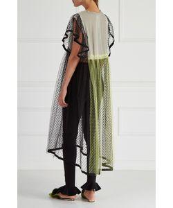 IVKA   Платье Из Бархата И Сетки