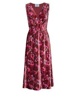 Prada | Бархатное Платье С Принтом