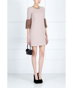 NATALIA GART | Платье С Меховой Отделкой