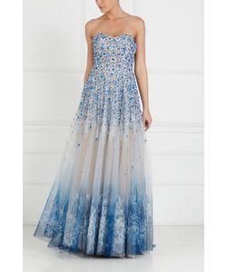 Tony Ward | Шелковое Платье С Вышивкой