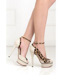 Charlotte Olympia | Туфли Из Кожи И Льна Leopardess
