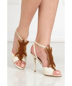 Charlotte Olympia | Босоножки Из Льна И Хлопка African Queen
