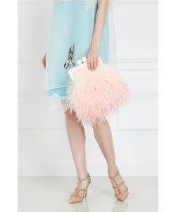 Esve | Шелковый Клатч С Перьями Марабу Flamingo