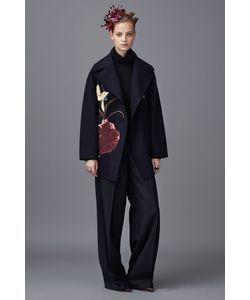 Valentino | Шерстяное Пальто С Вышивкой