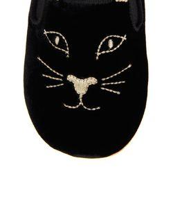 Incy by Charlotte Olympia | Бархатные Слипоны Kitten