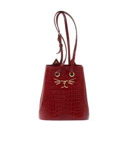 Charlotte Olympia | Сумка Из Лакированной Кожи Feline Bucket Bag