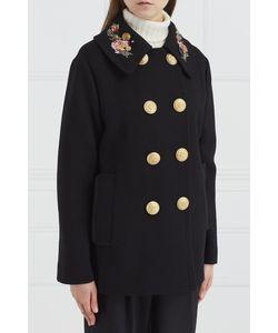 Dolce & Gabbana | Шерстяное Пальто С Вышивкой