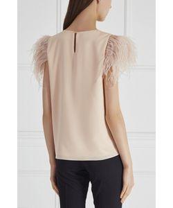 T-Skirt   Однотонный Топ С Перьями
