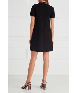 Miu Miu | Черное Платье С Кружевным Воротником