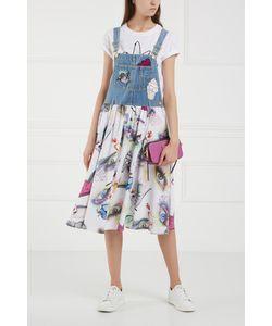 Kenzo | Платье Из Шелка И Хлопка