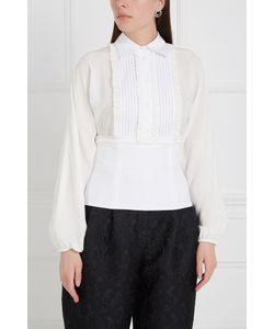 Dolce & Gabbana | Блузка Из Шелка И Хлопка