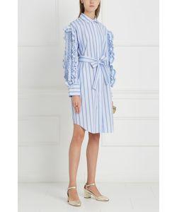 MSGM | Хлопковое Платье-Рубашка