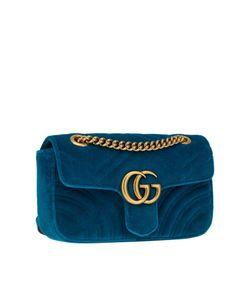 Gucci | Бирюзовая Сумка Gg Marmont Из Бархата