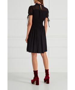 Miu Miu | Черное Платье С Драпировками