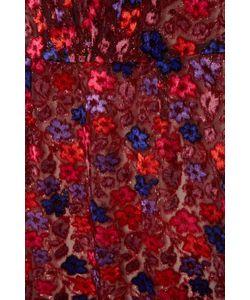 Prada | Бархатное Платье С Цветами