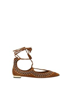 Aquazzura | Замшевые Туфли Christy Folk Flat
