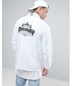 Huf   Спортивная Куртка С Принтом На Спине X Thrasher