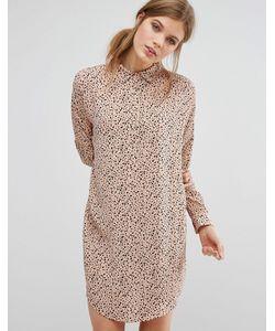 Suncoo   Платье-Рубашка С Принтом
