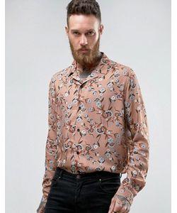 Asos | Вискозная Рубашка С Цветочным Принтом И Воротником В Виде Лацканов