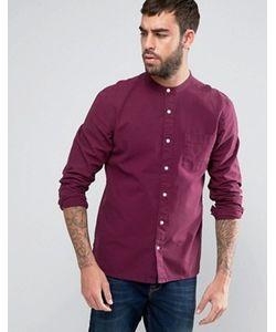 Asos | Фактурная Рубашка Классического Кроя С Воротом На Пуговице