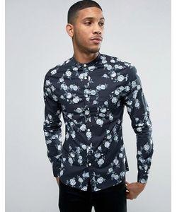 Asos | Приталенная Рубашка С Розами И Воротником На Пуговице