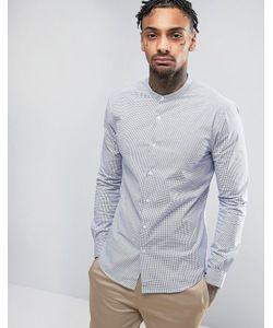 Asos | Оксфордская Рубашка Скинни В Голубую Полоску