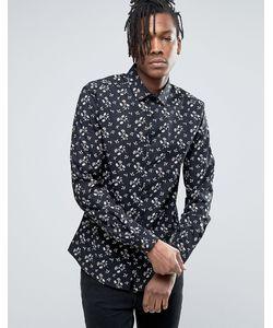 Asos | Узкая Рубашка С Цветочным Принтом