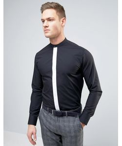 Selected Homme   Узкая Рубашка С Контрастной Планкой