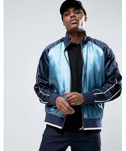 Asos | Синяя Спортивная Куртка На Молнии В Стиле Колор Блок